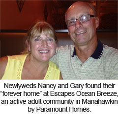 The Escapes Ocean Breeze newlyweds
